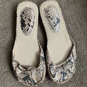 New With Tags- ALDO Snakeskin Slip On Mules